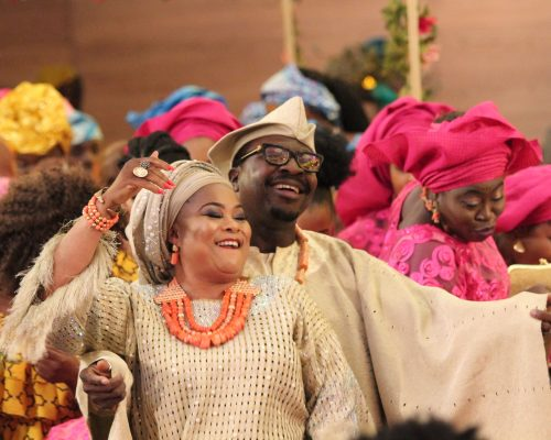 Bamidele & Tinuade Coker in THE WEDDING PARTY-min