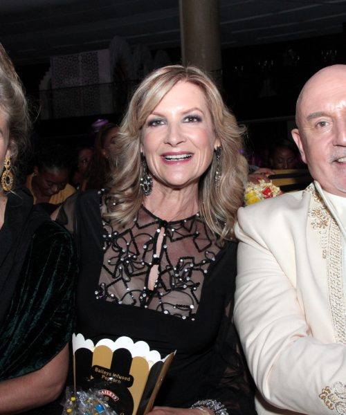 Daniella Down, Lynita Crofford and Michael de Pinna at premiere
