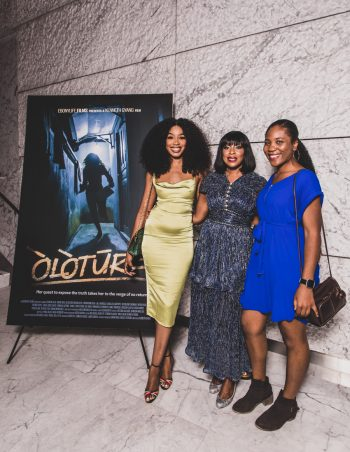 Guests at The EbonyLife Films and Creative Artists Agency Co Host Screening of Oloture, in LA