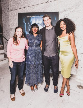 L-R Celia Duffy (Sony Pictures Television), Mo Abudu (EbonyLife Media), Adam Lubner (Sony Pictures Television), Sharon Ooja (Lead Actress Oloture)