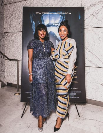 Mo Abudu & Eunice Omole at The EbonyLife Films and Creative Artists Agency Co Host Screening of Oloture, in LA