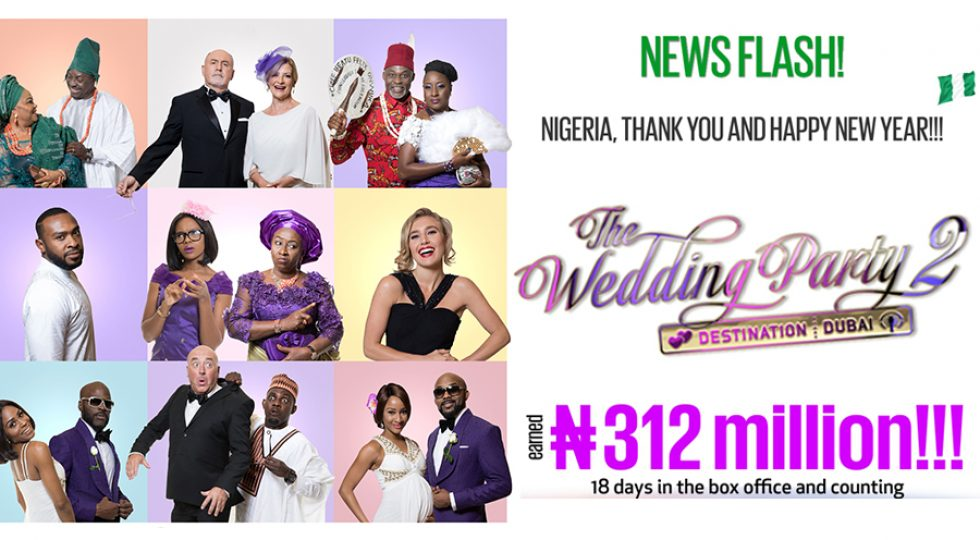 Wedding Party 2 shines at Nigerian box office with post-festive season total of N312 million
