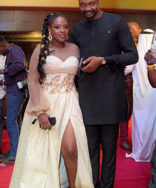 Temidayo Abudu and guest at TWP2 premiere