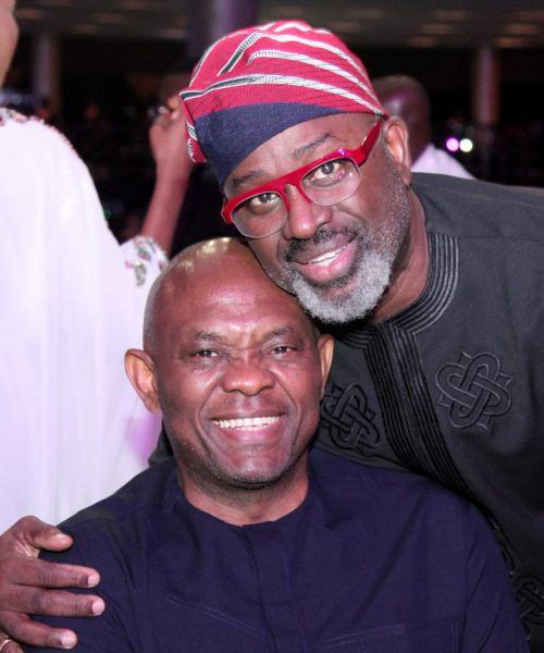 Tony Elumelu and guest at TWP2 premiere